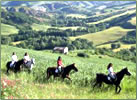 Horseback vacations in Tuscany, Italy.
