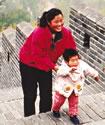 Great Wall of China hiking, China cultural travel, China Great Wall walking.