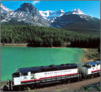 Canadian Rocky Mountains train journey article.