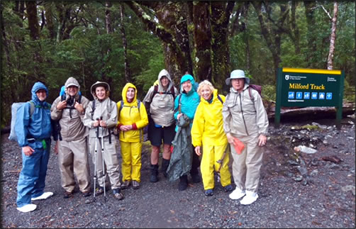 Group from New Mexico sets off on New Zealand's Milford Track.
