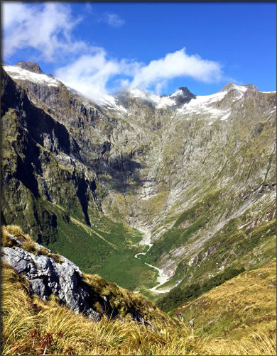 Mackinnon Pass on New Zealand's Milford Track.