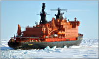 Russian expeditionary ship for polar tourism used by ElderTreks.