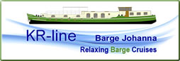 Logo: KR-line Barge Johanna cruises in Belgium and France.