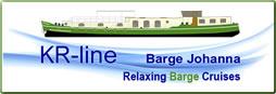 Logo: KR-line Barge Johanna cruises in Belgium and France.
