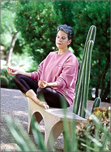 Private and group meditation is part of a wellness vacation at Miraval health resort in Arizona.