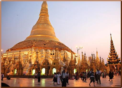 Myanmar's Shwedagon Pagoda complex in Yangon.