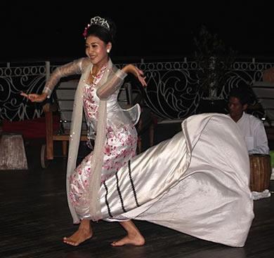 Traditional Myanmar dancer.