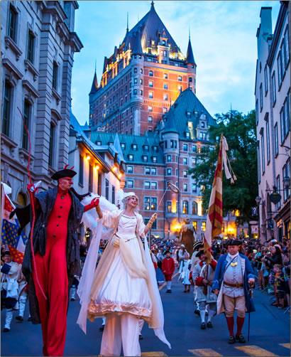 New France Festival parade at Quebec City's New France Festival.
