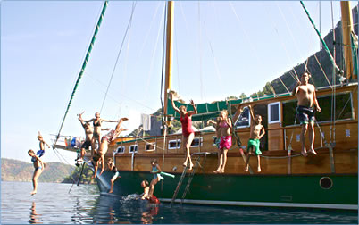Peter Sommer Travels Turkish gulet cruise family holidays are educational and fun.