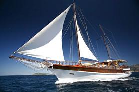 Mediterranean gulet sailing coastal Turkey, Croatia and Greece, managed by Goolets Ltd.