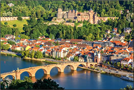 Heidelberg, Germany on the Rhine River.