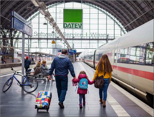 Frankfurt Train Station. Dennis Schmetz