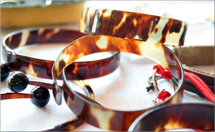 Endangered Hawksbill sea turtle bracelets.