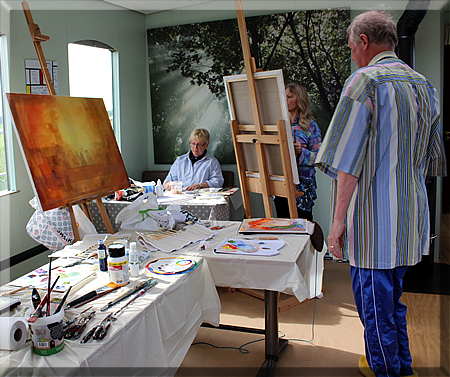 Artists on board are able to paint in good natural light.