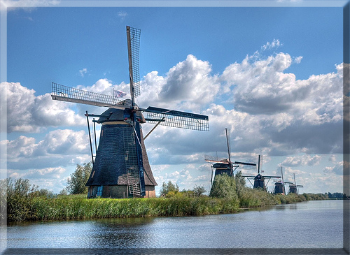 Declared a UNESCO World Heritage Site in 1997, the task of Kinderdijk's 19 iconic 18th-century windmills was pumping water out of low-lying farming lands.