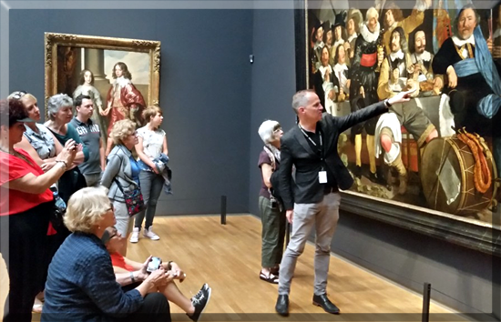 Our guided tour through the Rijksmuseum in Amsterdam.