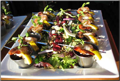Seafood served by Blue Canoe Restaurant in Steveston, B.C.