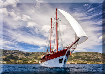 Article about gulet cruising the historic Croatian coast and Adriatic Islands with Row Adventures.