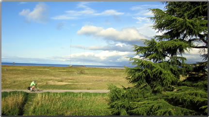 Cycling and walking the Steveston, B.C. dikes and trails around the village.