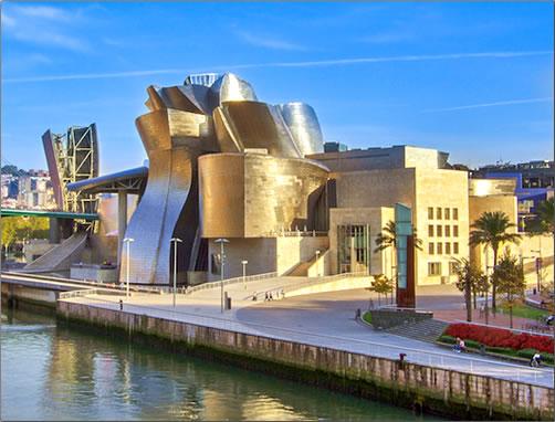 Camino del Norte: Bilbao's famed Guggenheim Museum of Modern Art.