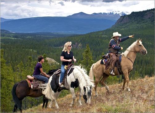 With horseback riding, enjoy amazing vistas and wildlife encounters.