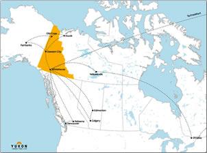 Map of Yukon.