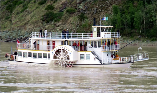A river tour perspective aboard a classic Yukon paddlewheeler is a great way to learn the history of the region.