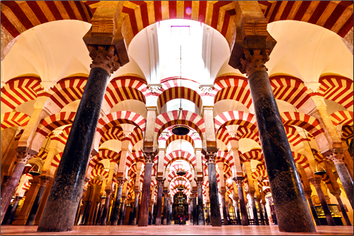 The Great Mosque of Cordoba in southern Spain.