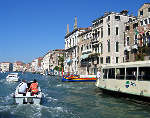 Canals are Venice's chief roadways with a variety of picturesque and practical transport serving citizens and visitors.