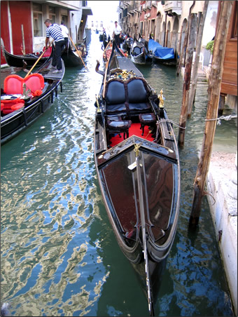 Gondolas are designed to traverse the narrowest of Venice's canals.
