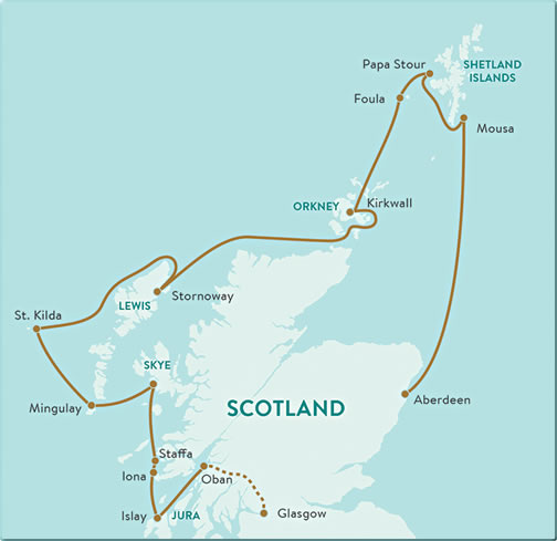 Scotland-Islands-Cruise-Map
