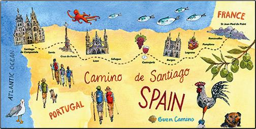 Map-of-Camino-de-Santiago