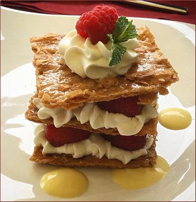 Millefeuille-with-strawberries-vegetarian-dessert