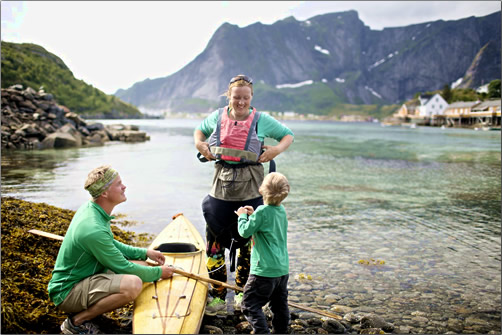 Norway-Family-Kayaking