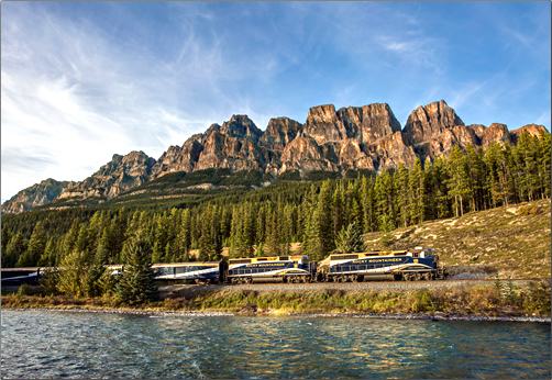 Castle-Mountain-with-Train