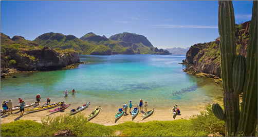 Baja-Mexico-Cove-with-Kayaks