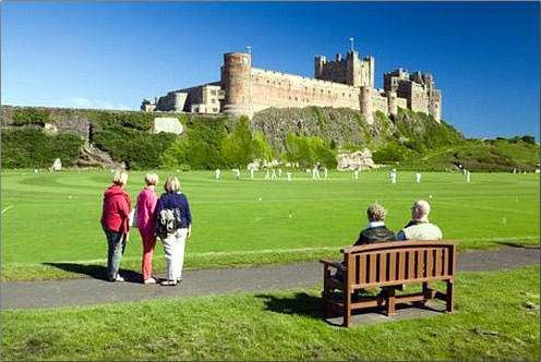 Cricket-Match-at-Bamburgh-Castle-Northumberland